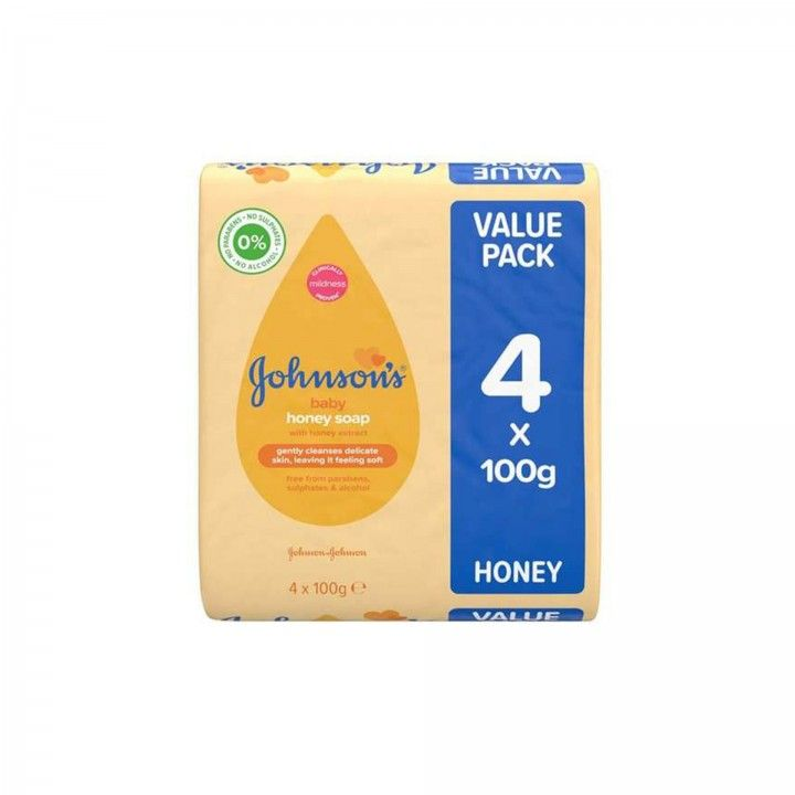 Johnson's Sabonete Honey 4 x 100g