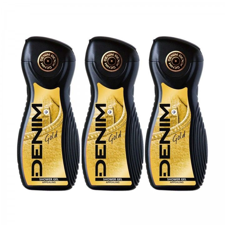Denim Gel de Banho Gold 400 ml - Pack 3 x 400 ml