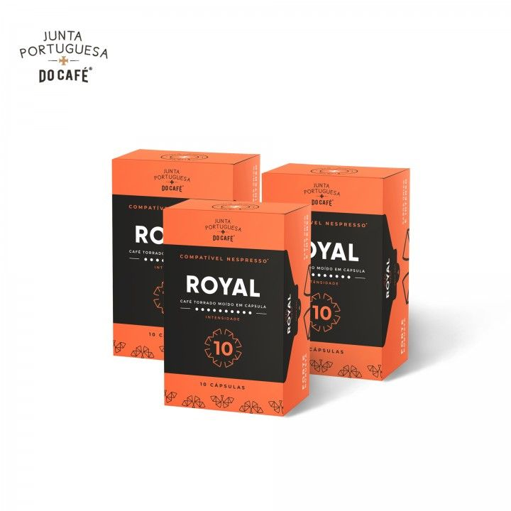 Junta Portuguesa Do Café Royal Caps Compatível Nespresso 10 INT - Pack 3 x 10 un
