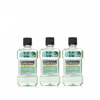 Listerine Elixir Bucal Spearmint 250 ml - Pack 3 x 250 ml