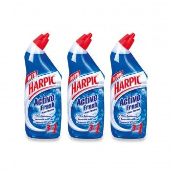 Harpic Active Gel Marinho 750 ml - Pack 3 x 750 ml