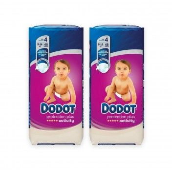 Dodot Activity Protection Plus Fraldas Bébé T4 (9-14kg) 48 un - Pack 2 x 48 un