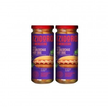 Izidoro Salsichas Hot Dog 4 un Frasco 250 gr - Pack 2 x 250 gr