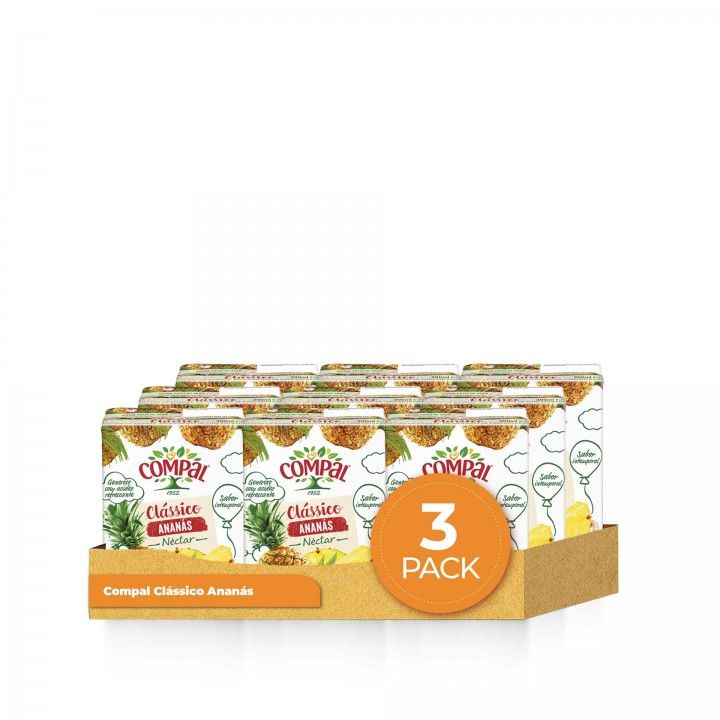 Compal Tetra Classic Ananas 3 x 20 cl - Pack 3 x 60 cl
