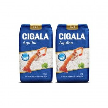 Cigala Arroz Agulha 1 kg - Pack 2 x 1 kg
