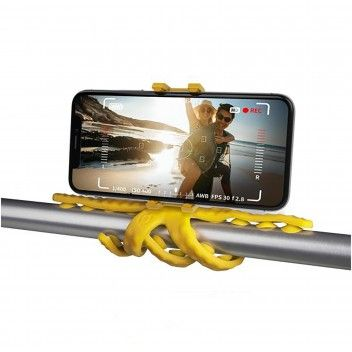 Celly Tripé Para Smartphone Squiddy Flexível Amarelo