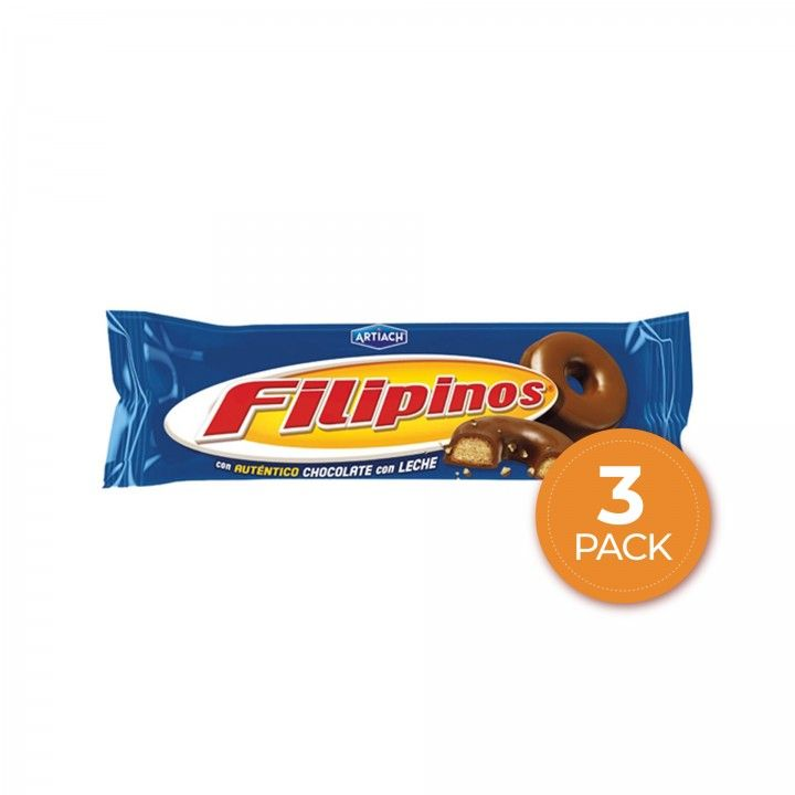Filipinos Chocolate Leite 100 gr + 35 gr - Pack 3 x 135 gr