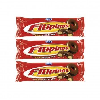 Filipinos Chocolate Negro 100 gr + 35 gr - Pack 3 x 135 gr