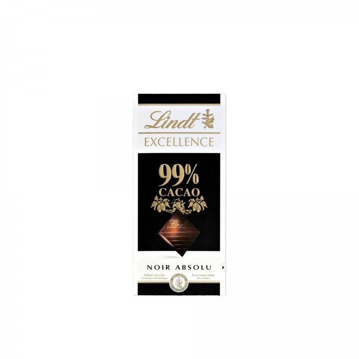 Lindt Excellence Chocolate Negro 99% Cacau 100 gr - Pack 2 x 100 gr