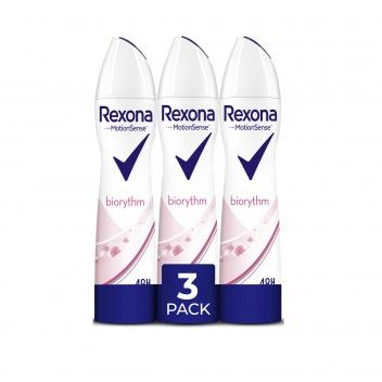 Rexona Aero Biorythm 200 ml - Pack 3 x 200 ml