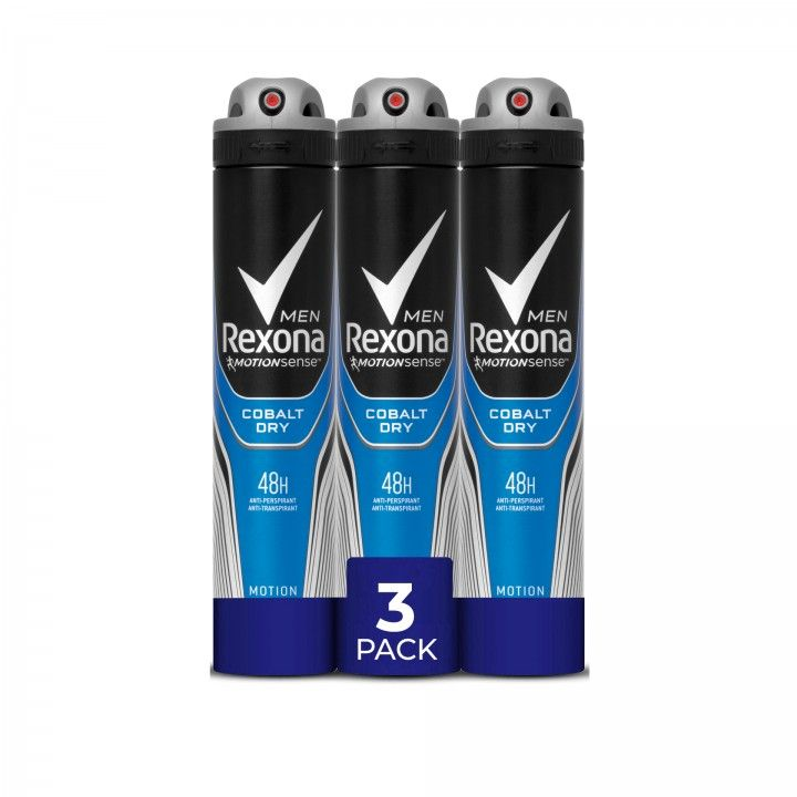 Rexona Men Aero Cobalt 200 ml - Pack 3 x 200 ml