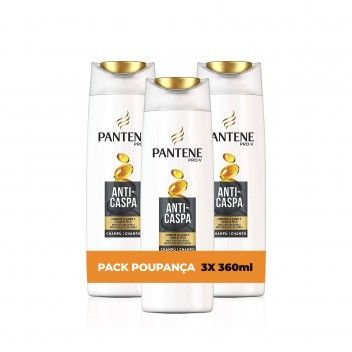 Pantene Champô Anti-Caspa 360 ml - Pack 3 x 360 ml