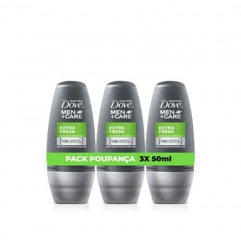 Dove Men Care Roll-On Extra Fresh 50 ml - Pack 3 x 50 ml