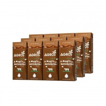 Leite Chocolatado Agros 200 ml - Pack 12 x 200 ml