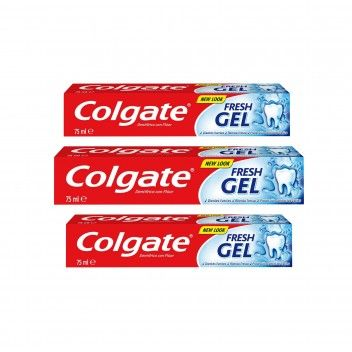 Colgate Pasta Dentífrica Fresh Gel 75 ml - Pack 3 x 75 ml