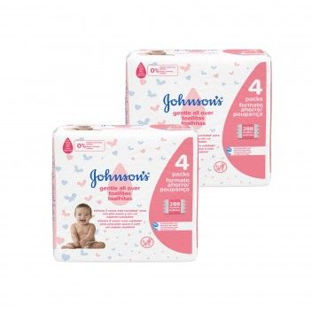 Johnson's Toalhitas Gentle All Over 4 x 72 un - Pack 2 x 288 un