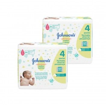 Johnson's Toalhitas Cottontouch 4 x 56 un  - Pack 2 x 224 un