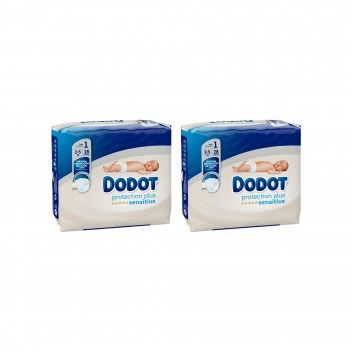 Dodot Sensitive Protection Plus Fraldas T1 (2-5kg) 28 un - Pack 2 x 28 un