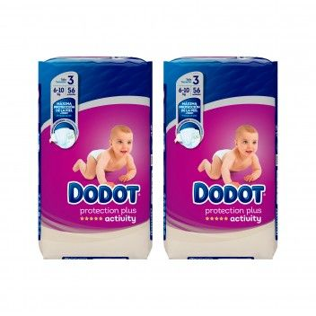 Dodot Activity Protection Plus Fraldas Bébé T3 (6-10kg) 56 un - Pack 2 x 56 un