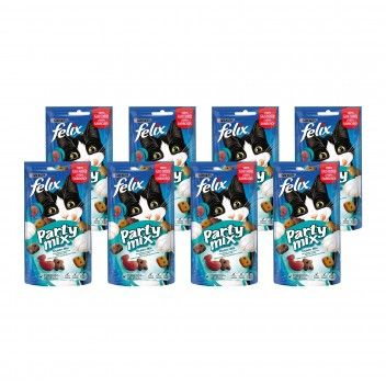 Purina Felix Snack para Gato Party Mix Ocean Mix 60 gr - Pack 8 x 60 gr