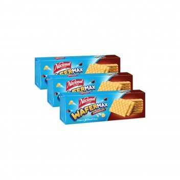 Nacional Wafermax Chocolate 125 gr - Pack 3 x 125 gr
