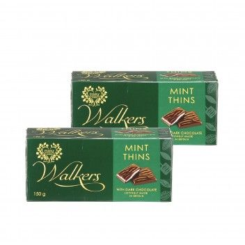 Walkers Mint Cream Thins 150 gr - Pack 2 x 150 gr